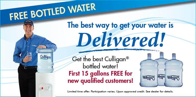 Free Bottled Water Delivered!