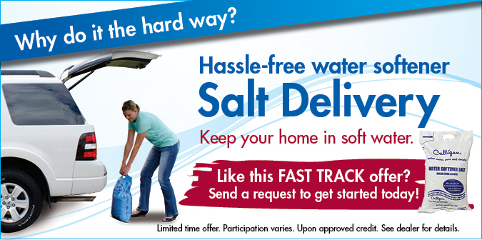 Why do it the hard way?Hassel free water softener salt delivery.