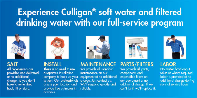 Culligan Services: Salt Delivery, Maintenance, Repair, Bottled Water