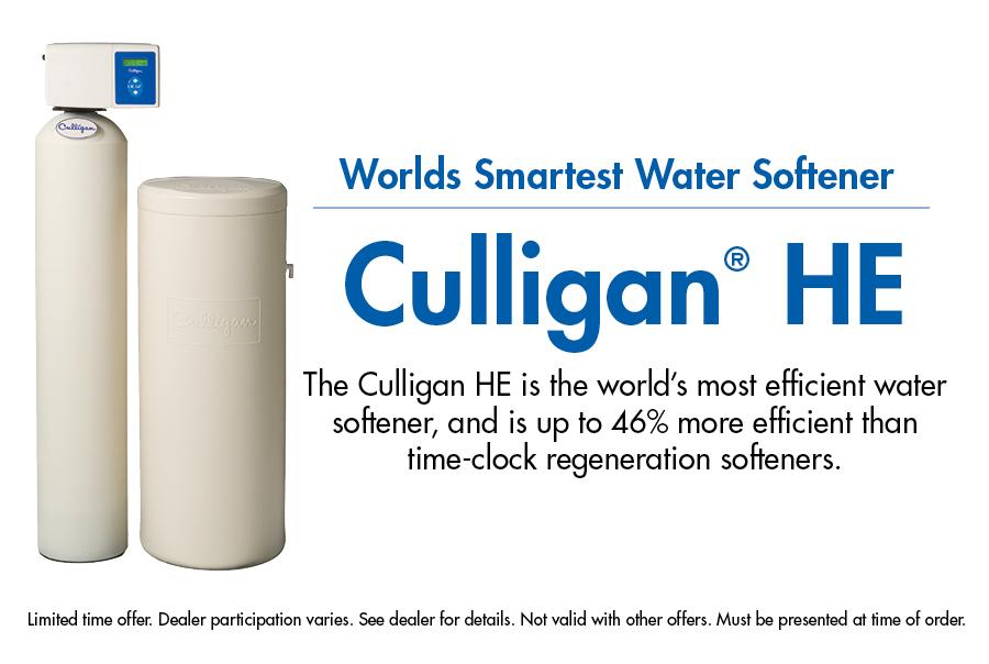 Culligan He Water Softeners Saves Salt Energy